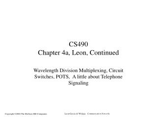 CS490 Chapter 4a, Leon, Continued