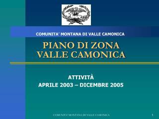 PIANO DI ZONA VALLE CAMONICA