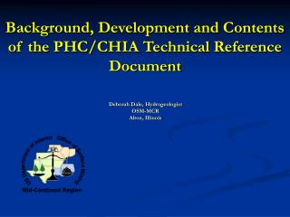 Background, Development and Contents of the PHC/CHIA Technical Reference Document