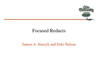 Focused Reducts