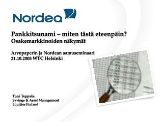 Toni Teppala Savings & Asset Management Equities Finland