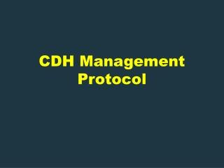 Management of Infants requiring ECMO