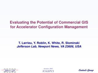 Evaluating the Potential of Commercial GIS for Accelerator Configuration Management