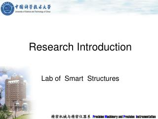 Research Introduction Lab of  Smart  Structures