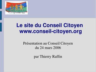 Le site du Conseil Citoyen conseil-citoyen