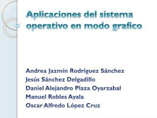 Aplicaciones del sistema operativo en modo grafico