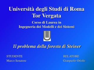 Corso di Laurea  in  Ingegneria dei Modelli  e  dei Sistemi