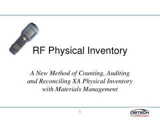 RF Physical Inventory