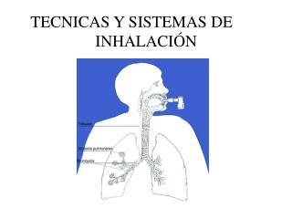 TECNICAS Y SISTEMAS DE    INHALACIÓN