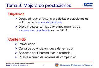 Tema 9. Mejora de prestaciones