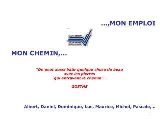 …,MON EMPLOI  MON CHEMIN,…