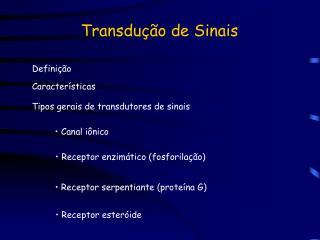 Transdução de Sinais