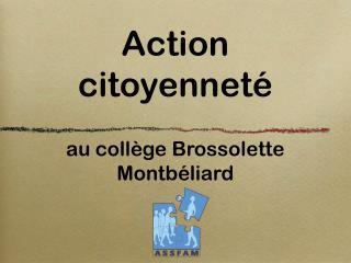 Action citoyenneté au collège Brossolette Montbéliard