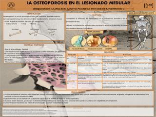 LA OSTEOPOROSIS EN EL LESIONADO MEDULAR