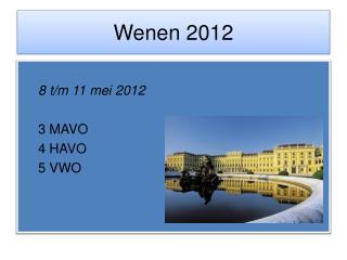Wenen  2012