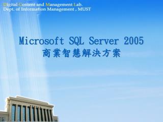 Microsoft SQL Server 2005 商業智慧解決方案