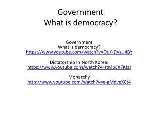 Government What is democracy?