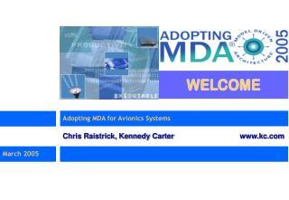 Adopting MDA for Avionics Systems