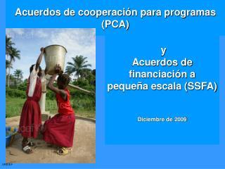 Acuerdos de cooperación para programas (PCA)