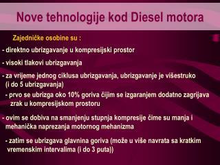 Nove tehnologije kod Diesel motora
