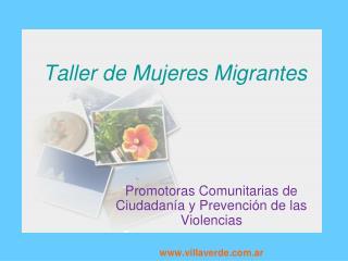 Taller de Mujeres Migrantes