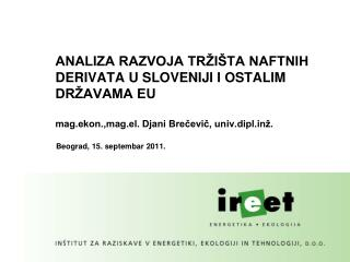 Beograd, 15. septembar 2011.