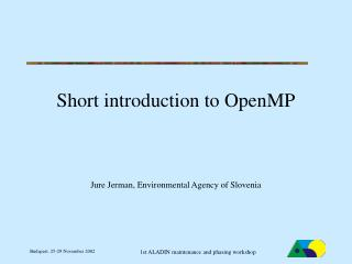 Short introduction to OpenMP