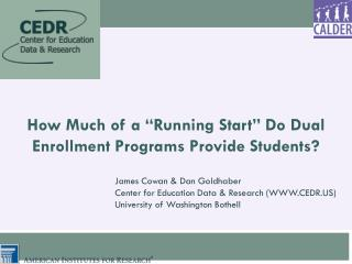 "How Much of a  "" Running Start ""  Do Dual Enrollment Programs Provide Students?"