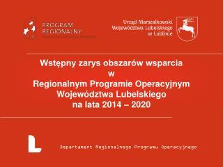 Departament Regionalnego Programu Operacyjnego