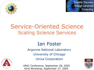 Service-Oriented Science Scaling Science Services