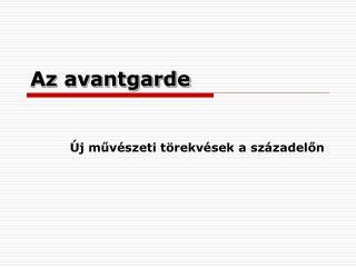 Az avantgarde