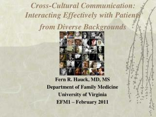 Cross-Cultural Communication: Interacting Effectively with Patients from Diverse Backgrounds