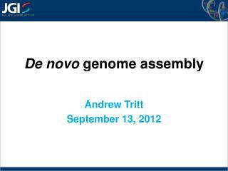 De novo  genome assembly