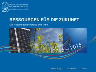 Ressourcen Für die Zukunft