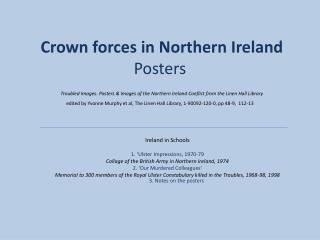 Crown forces in Northern Ireland Posters   Troubled Images. Posters  Images of the Northern Ireland Conflict from the Li