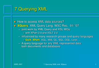 7 Querying XML