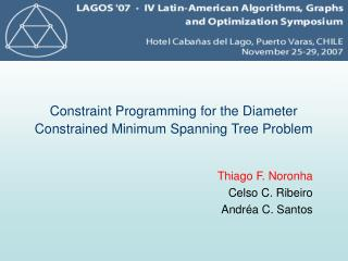 Constraint Programming for the Diameter Constrained Minimum Spanning Tree Problem