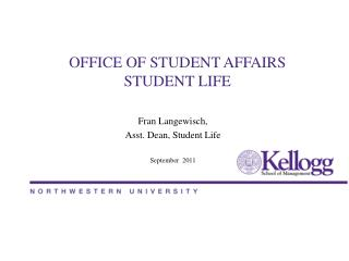 OFFICE OF STUDENT AFFAIRS  STUDENT LIFE
