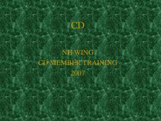 NH WING  CD MEMBER TRAINING  2007