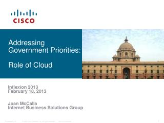 Addressing Government Priorities: Role of Cloud