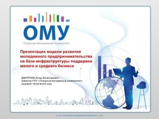 ДМИТРИЕВ Игорь Вячеславович директор НОУ «Открытый молодёжный университет»,