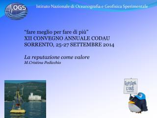Istituto Nazionale di Oceanografia e Geofisica Sperimentale