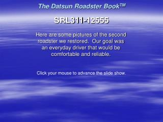 The Datsun Roadster BookTM