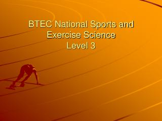 BTEC National Sports and Exercise Science Level 3