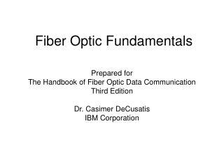 Fiber Optic Fundamentals