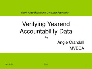 Verifying Yearend Accountability Data