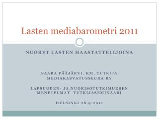 Lasten mediabarometri 2011
