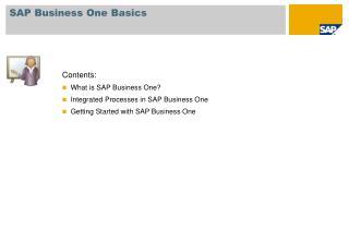 SAP Business One Basics