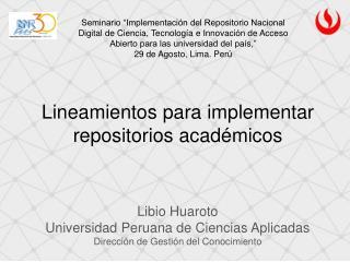 Lineamientos para implementar repositorios académicos