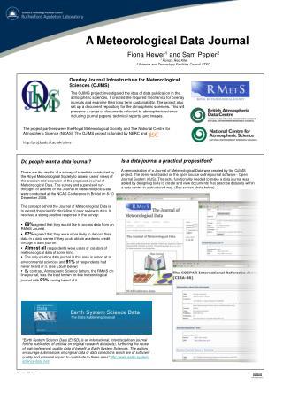 A Meteorological Data Journal